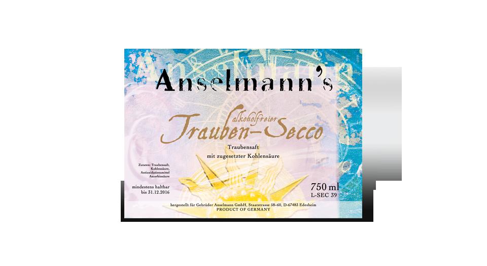 Anselmann's alkoholfreier Trauben-Secco
