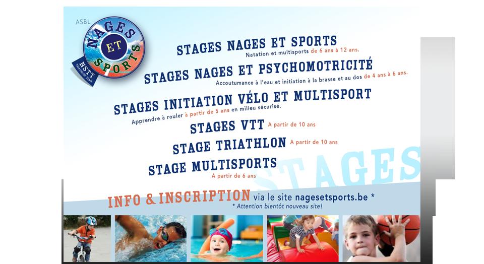 NSTT – Nages et Sport, Flyer